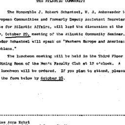 Announcements, 1968-10-16. ...