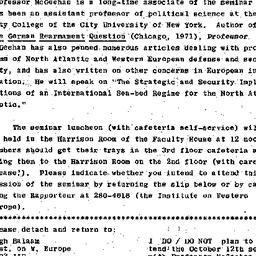 Announcements, 1976-10-12. ...