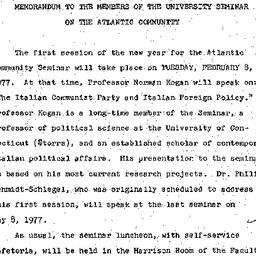 Announcements, 1977-02-08. ...