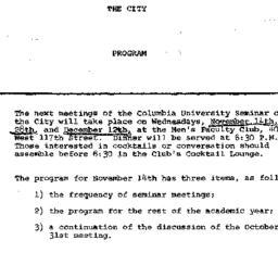 Announcements, 1962-11-14. ...