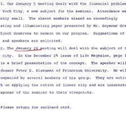 Announcements, 1966-01-12. ...