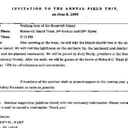 Announcements, 1999-06-08. ...
