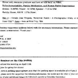 Announcements, 1999-04-11. ...