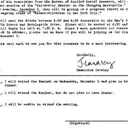 Announcements, 1973-11-12. ...