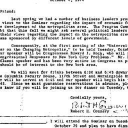 Announcements, 1974-10-04. ...