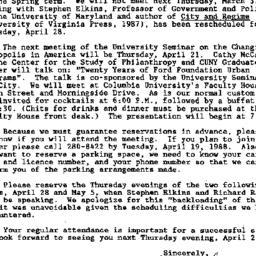Announcements, 1988-03-25. ...