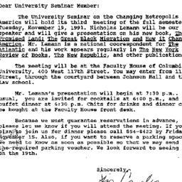 Announcements, 1991-10-22. ...