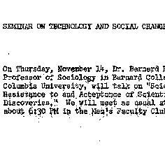 Announcements, 1963-11-14. ...