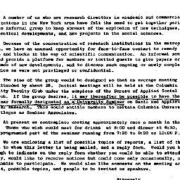 Announcements, 1963-10-11. ...
