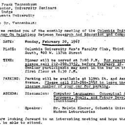 Correspondence, 1967-02-01....