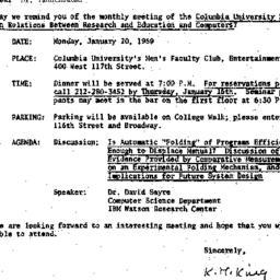 Correspondence, 1969-01-10....