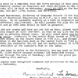 Announcements, 1974-04-02. ...