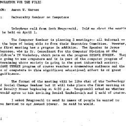 Announcements, 1982-03-08. ...