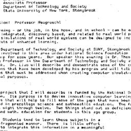 Minutes, 1983-04-28. Knowle...
