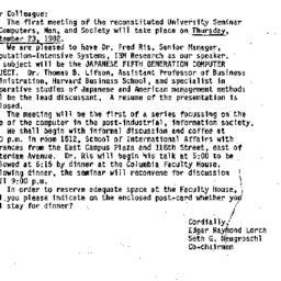 Announcements, 1982-09-09. ...