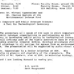 Announcements, 1986-04-17. ...