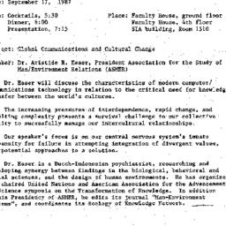 Announcements, 1987-09-17. ...