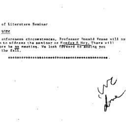 Correspondence, 1985-05-06....