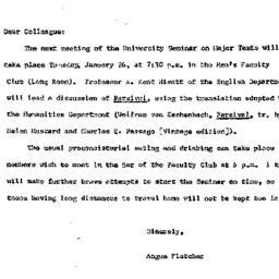Announcements, 1965-01-19. ...