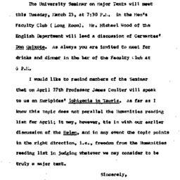 Announcements, 1965-03-22. ...