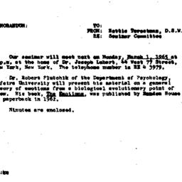 Announcements, 1965-02-19. ...