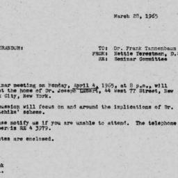 Announcements, 1965-03-28. ...