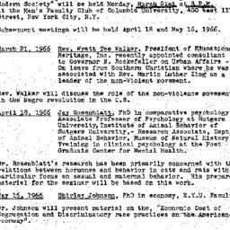 Announcements, 1966-03-21. ...