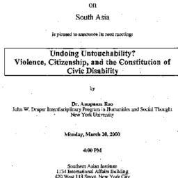 Announcements, 2000-03-20. ...