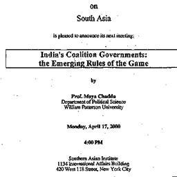 Announcements, 2000-04-17. ...