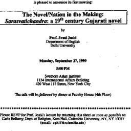 Announcements, 1999-09-27. ...