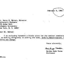 Correspondence, 1984-02-09....