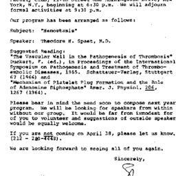 Announcements, 1967-04-13. ...