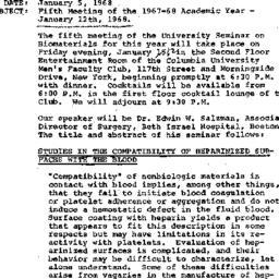 Announcements, 1968-01-05. ...