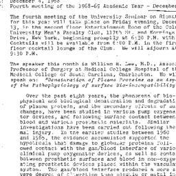 Announcements, 1968-12-04. ...