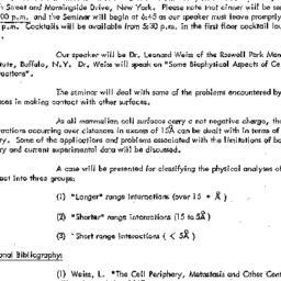 Announcements, 1970-04-01. ...