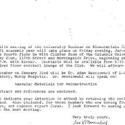 Announcements, 1971-01-11. ...