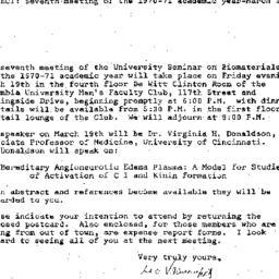 Announcements, 1971-03-01. ...