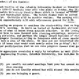 Announcements, 1977-05-05. ...
