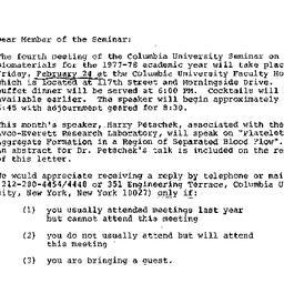 Announcements, 1978-02-01. ...