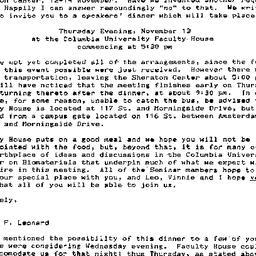 Announcements, 1986-10-30. ...