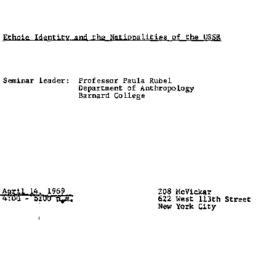 Announcements, 1969-04-14. ...