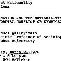 Announcements, 1970-03-09. ...