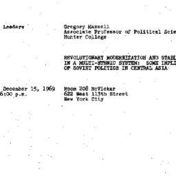Announcements, 1969-12-15. ...