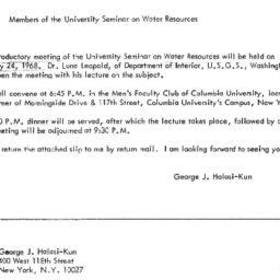 Announcements, 1968-01-02. ...
