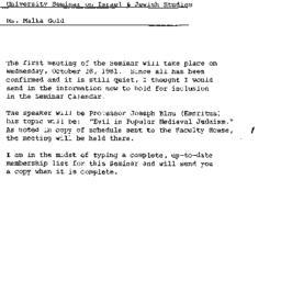Correspondence, 1981-09-01....