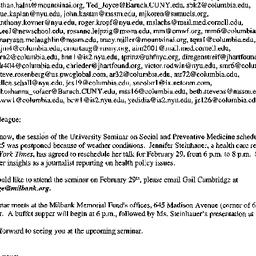 Announcements, 2000-02-16. ...