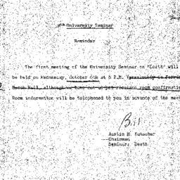Announcements, 1971-10-02. ...