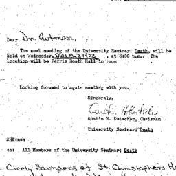 Announcements, 1973-02-14. ...