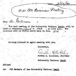 Announcements, 1973-03-27. ...