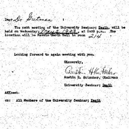Announcements, 1973-04-25. ...